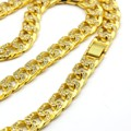 Bling Iced Out Hip Hop Necklace Pave Cubic Zirconia Necklace White \ Gold Plated Thick Cuban Chain Necklace Men's Jewelry
