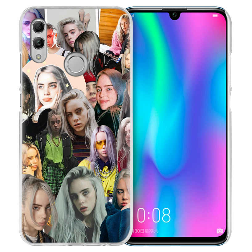 Чехол Billie Eilish Music Singer для Huawei Honor 8X Y9 9 10 Lite Play 8C 8S 8A Pro V20 20i 10i Y6 Y7 2019 жесткий чехол для телефона из ПК