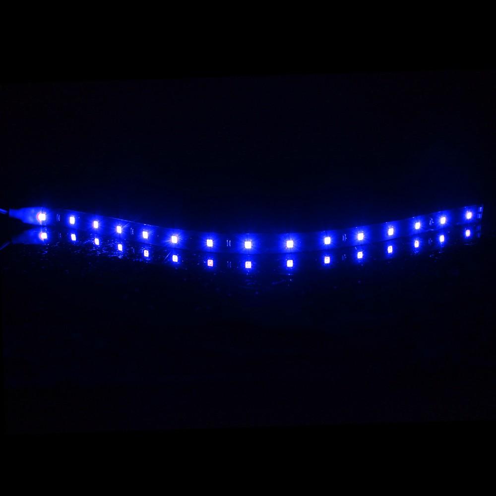 водонепроницаемый авто декоративные гибкие светодиодные ленты высокомощный 12 в 30 см 15smd автомобилей светодиодные дневные бег свет автомобиля светодиодные ленты свет ДРЛ