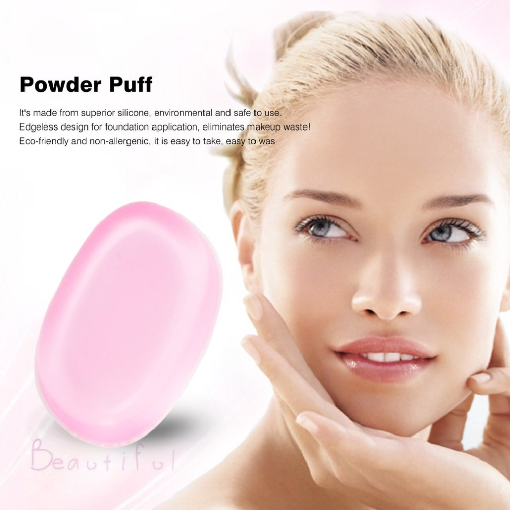 Cosmetic Puff Silicone Gel Powder Puff Leaf Shaped Liquid Powder Blender Foundation Makeup Puff Beauty Essentials Cosmetic Supply