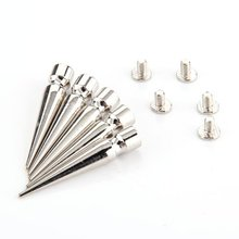 5 наборов серебряные отвертки пули заклепки Шипы Шпильки Пятна для обуви/сумки/одежды ремесло