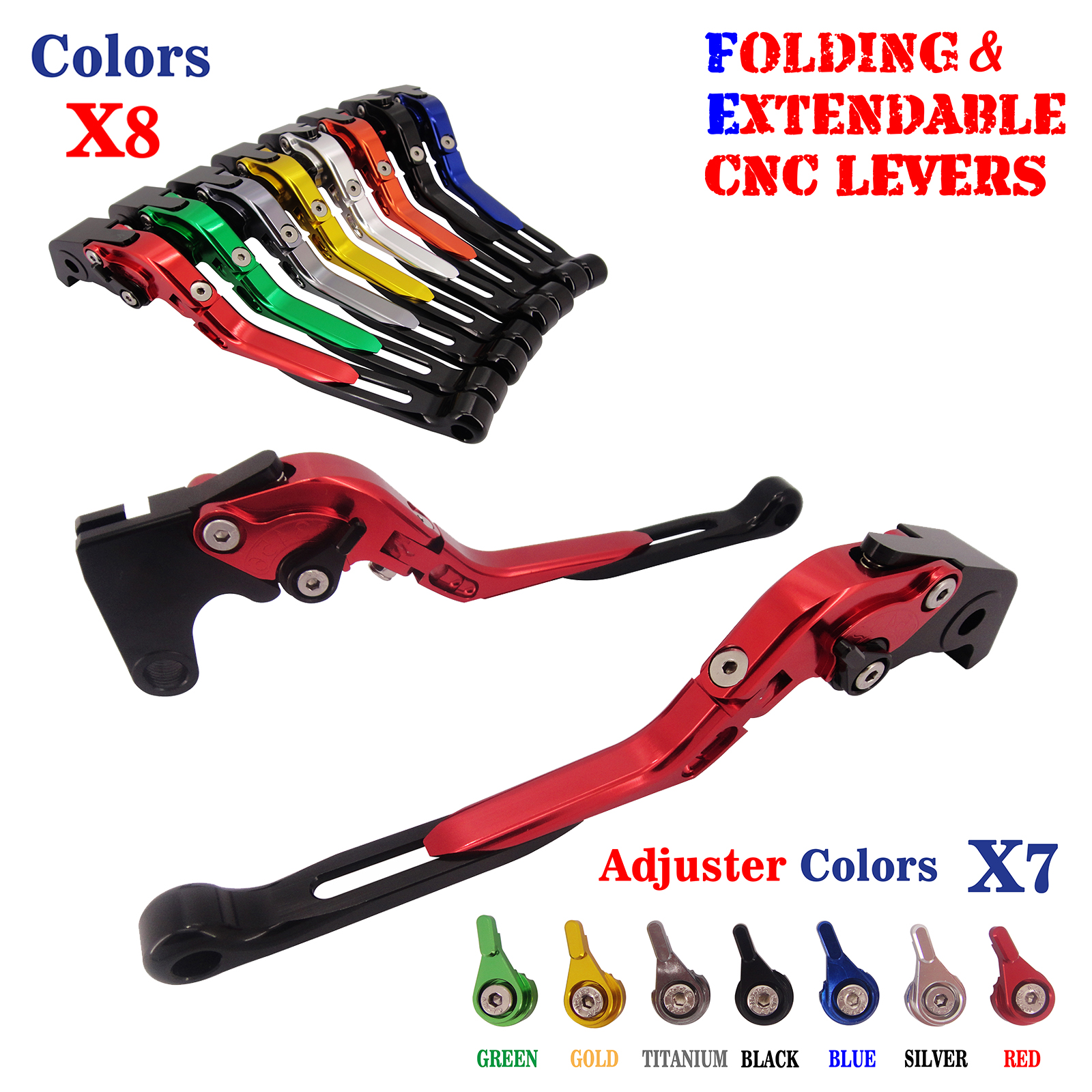 Adjustable Folding Extendable Brake Clutch Levers For Ducati Monster 400 695 696 796 620/620 MTS Monster S2R 800 2005-2007 for ducati monster s2r 800 2005 2006 2007 short clutch brake levers cnc adjustable 10 colors motorbike accessories