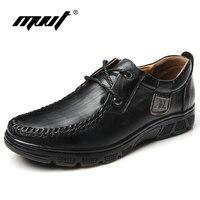 MVVT Tallas grandes Hombres Oxfords 100% Zapatos de Cuero Genuino Suave de Los Hombres Zapatos Casuales Aumento de la Altura Zapatos Hombres de Negocios de Alta Calidad