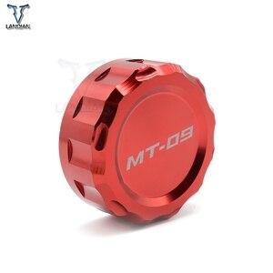 Image 4 - LOGO MT 09 moto CNC avant et arrière frein liquide cylindre maître réservoir couvercle pour Yamaha MT 09 MT09 mt09 2013 2014