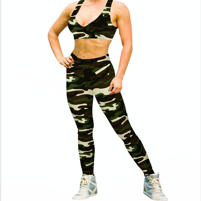 Spring Women Leggings Fitness Camouflage Printed  Pants High Elastic Leggings Graffiti Leggins