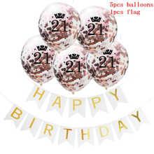 6pcs 12inch Rose Gold Latex Kids Balloon Birthday Flag Decorations Ballon High Quality Party Decor