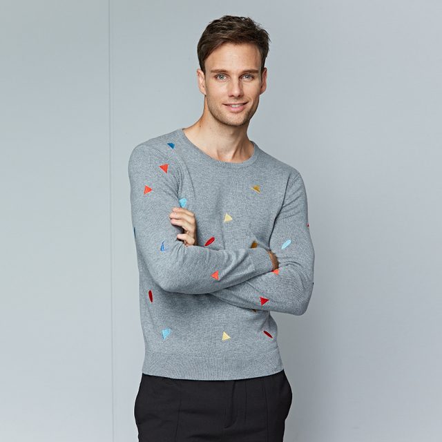 Hot Sale 2017 Winter Sweater Men for Cutton Brand Clothing Long Sleeve Fashion Pullovers Mens Casual Knitting O-neck Sweaters