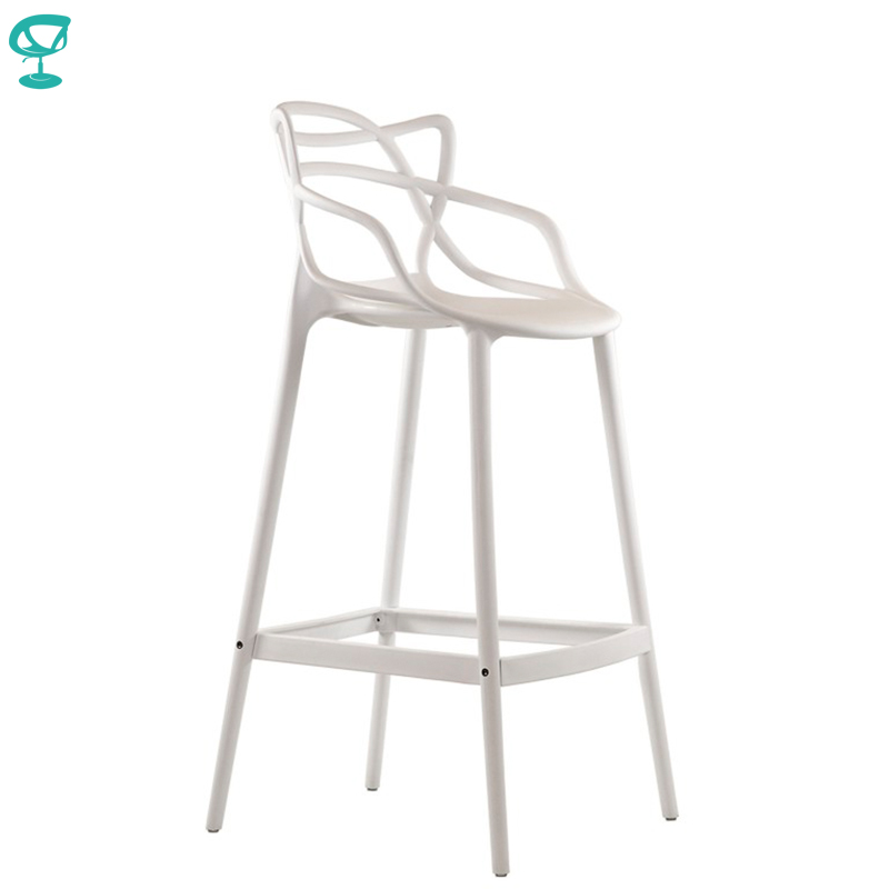 95236 Barneo N-235 Plastic High Kitchen Breakfast Bar Stool Swivel Bar Chair White Free Shipping In Russia