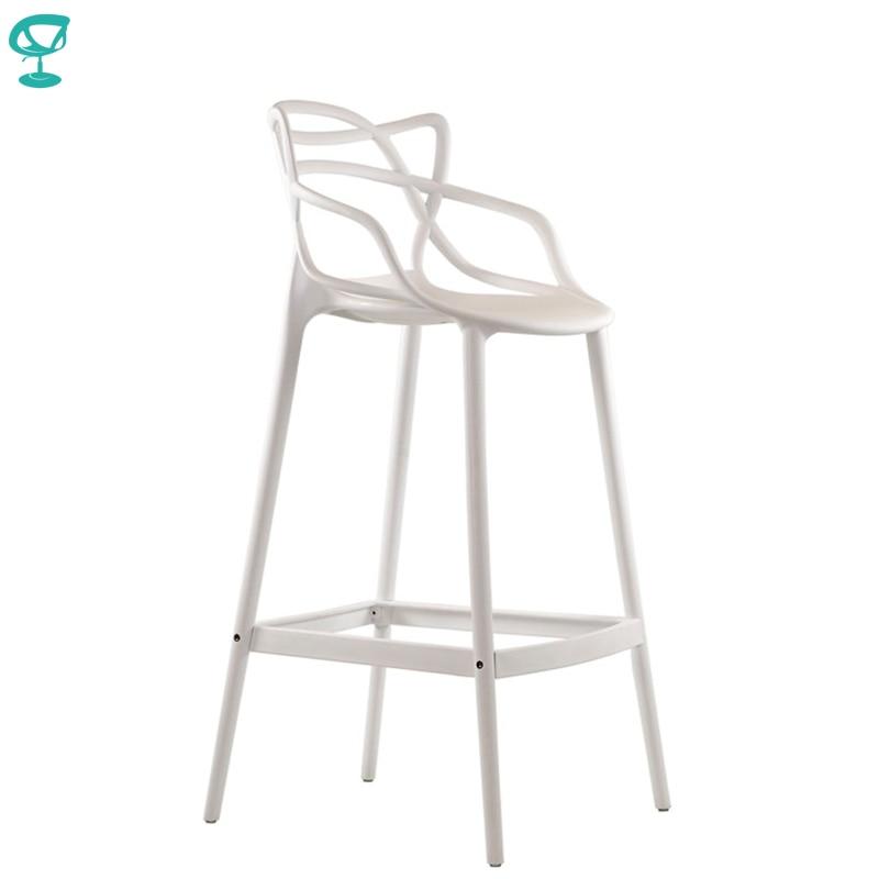 95236 Barneo N-235 Plastic High Kitchen Breakfast Bar Stool Swivel Bar Chair White Free Shipping In Russia