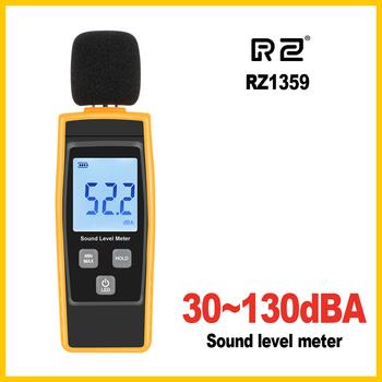 RZ cyfrowy miernik poziomu dźwięku DB mierniki tester hałasu w decybelach ekran LCD nowy RZ1359 tanie i dobre opinie 30 ~ 130dB