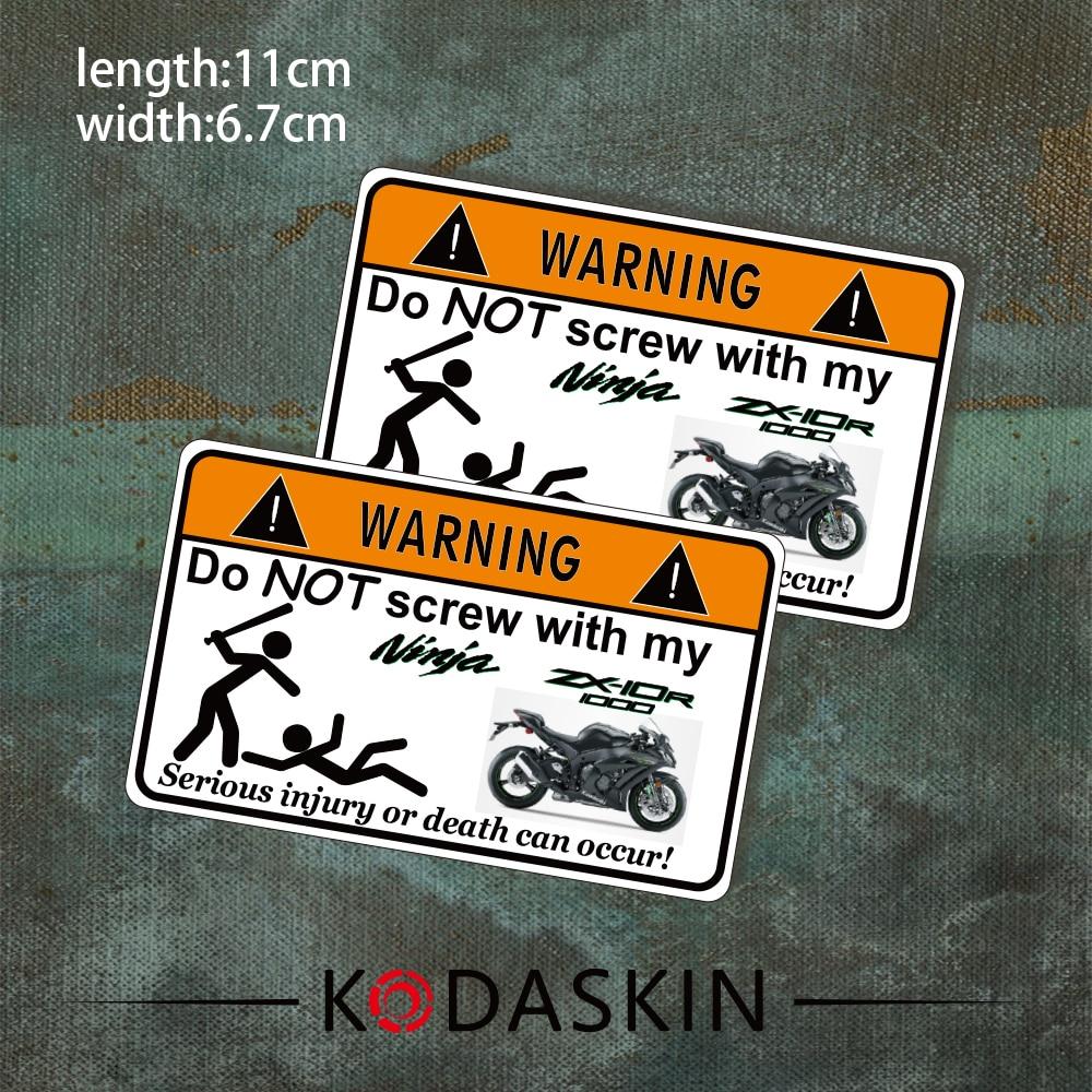 Kodaskin эмблема 2D надписи мотоцикл винил Стикеры Графический Забавный шутка Предупреждение знак для Kawasaki ZX-10R 1000 zx1000