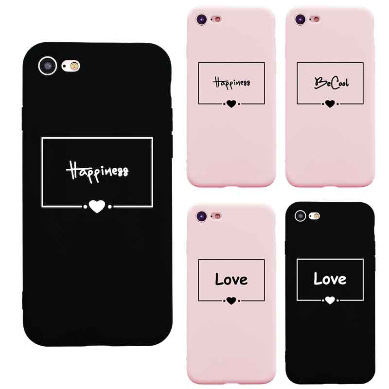 New Fashion Cute Pink Love Hearts Letter Phone Case For