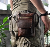 Retro oil wax Genuine leather 7Universal Outdoor Waist Phone Bag Pouch Case for AGM A8 SE A8 X2 MAX X2 PRO X2 A2 A10Q X1 A7