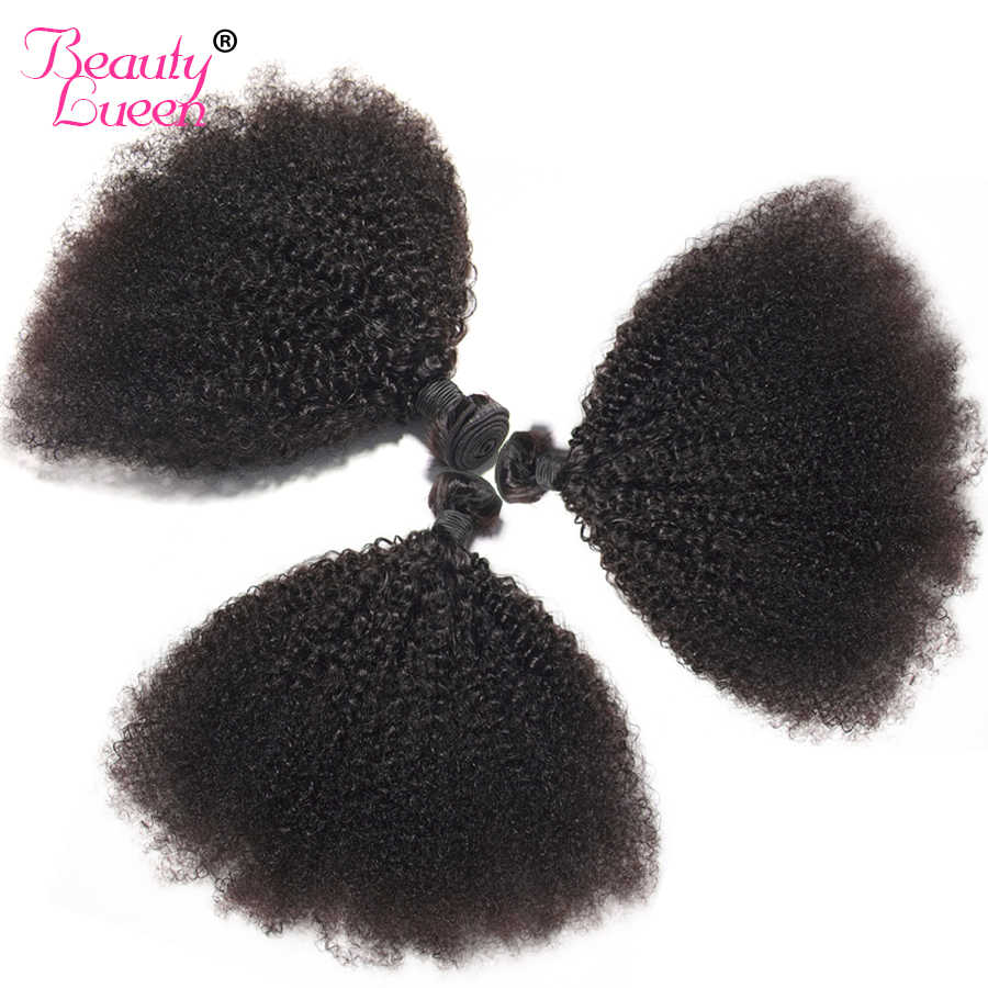 Black Mongolian Afro Kinky Curly Hair 3/4 Bundles Deals  Non Remy Tissage Bresilien Human Hair Weave Extensions For Braiding