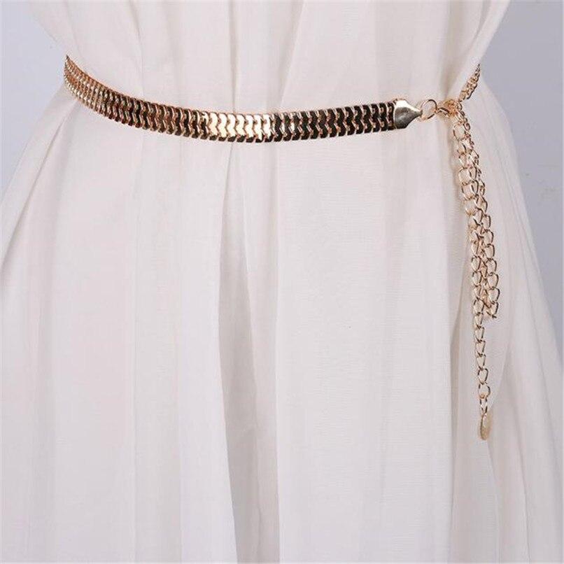 Women\'s Lady Fashion Metal Chain Pearl Style Belt Body Chain  Belts For Women Dresses Waist Belt Women Slim 40AG304