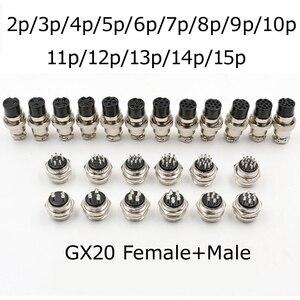 GX12 GX16 GX20 2/3/4/5/6/7/8/9/10/11/12/13/14/15P штыри женские Воздушные авиационные соединители электрические кабели питания штепсельная розетка