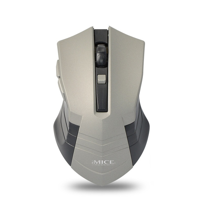 Cool IMICE Heavy Armor Wireless Mouse USB Optical Use 1 AA Battery(Not Include) Power Saving Symmetrical Right Hand For Office