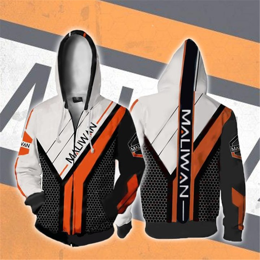 assassin Zer0 Sweatshirts Cosplay <font><b>Borderlands</b></font> 2 <font><b>Costumes</b></font> 3D printed fashion Autumn men and women hooded zippered jacket image