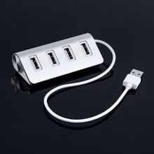 Aluminum Mini 4 Port USB HUB High Speed USB 2.0 Multi Port HUB USB Splitter for Apple Macbook Air Laptop PC Tablet цена