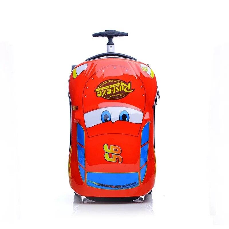 Anime Supercar dziecko dziewczynka chłopiec zabawki wózek walizka kreskówka dla dzieci bagaż koła walizka podróży walizka dziecięca w Bagaż podręczny od Bagaże i torby na  Grupa 1