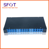 Fiber Optic Patch Panel,Rack Mounted Terminal Box, 19'' ,1U,24 ports, Can for LC , SC, FC, ST connect.