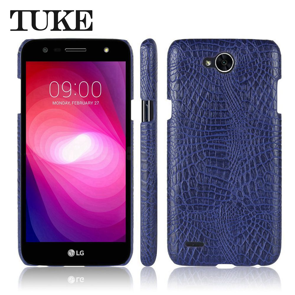 buy online 23ff7 5daa2 US $3.44 28% OFF|TUKE Crocodile Pattern Case for LG X Power 2 Hard PC Back  Cover For LG X Power2 M320 Leather Coque for LG Power X2 Carcasa Etui-in ...