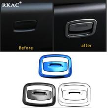 RKAC высококачественной нержавеющей стали бардачок ручка Декоративные наклейки для Renault Kadjar 2015 2016 2017 2018, автомобиль-Стайлинг