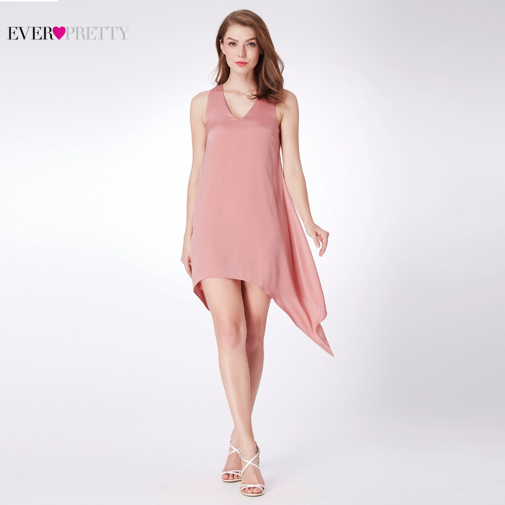 New Chiffon Cocktail Dresses Ever Pretty AS04040 Women\'s Pink A-line ...