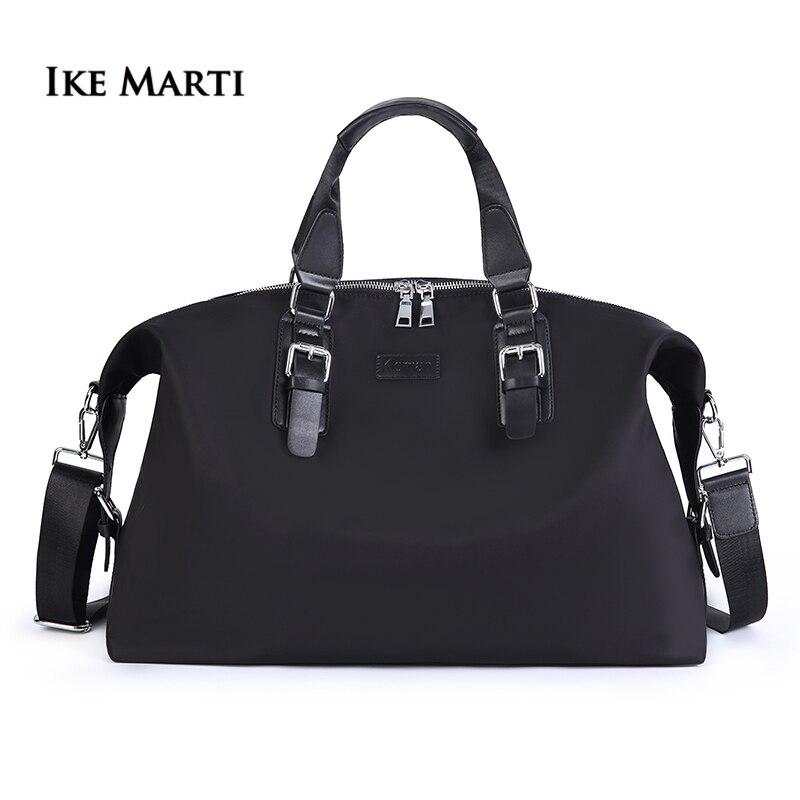 IKE MARTI hommes femmes sac de voyage sacs de voyage pour voyager week-end Sport sac à main grande capacité étanche noir sac de Sport