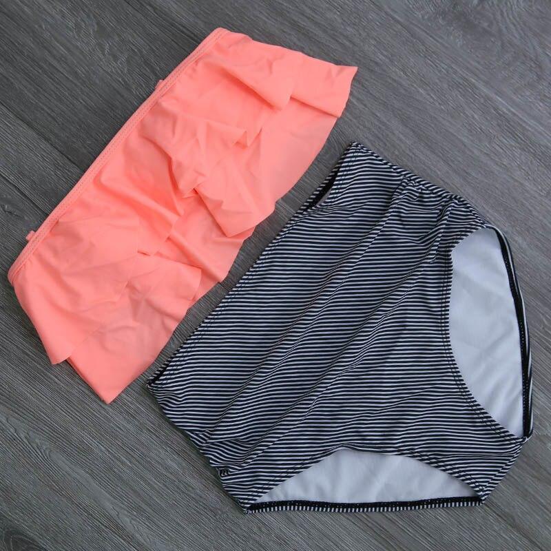 HTB1uScja1H2gK0jSZFEq6AqMpXaD 2019 New Bikinis Women Swimsuit High Waist Bathing Suit Plus Size Swimwear Push Up Bikini Set Vintage Beach Wear Biquini