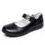 Niños shoes for girls shoes kids fashion negro solo shoes cuero genuino estudiante de cuero escuela de primavera/otoño solo shoes