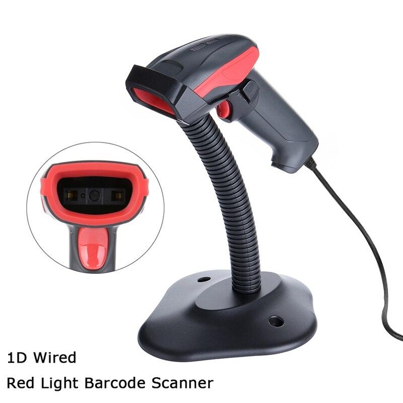 100% QualitäT Ak14 1d Rot Licht Wired Barcode Scanner Usb Handheld Barcode Reader Hohe Anerkennung One-dimensional Code Extractor Farben Sind AuffäLlig