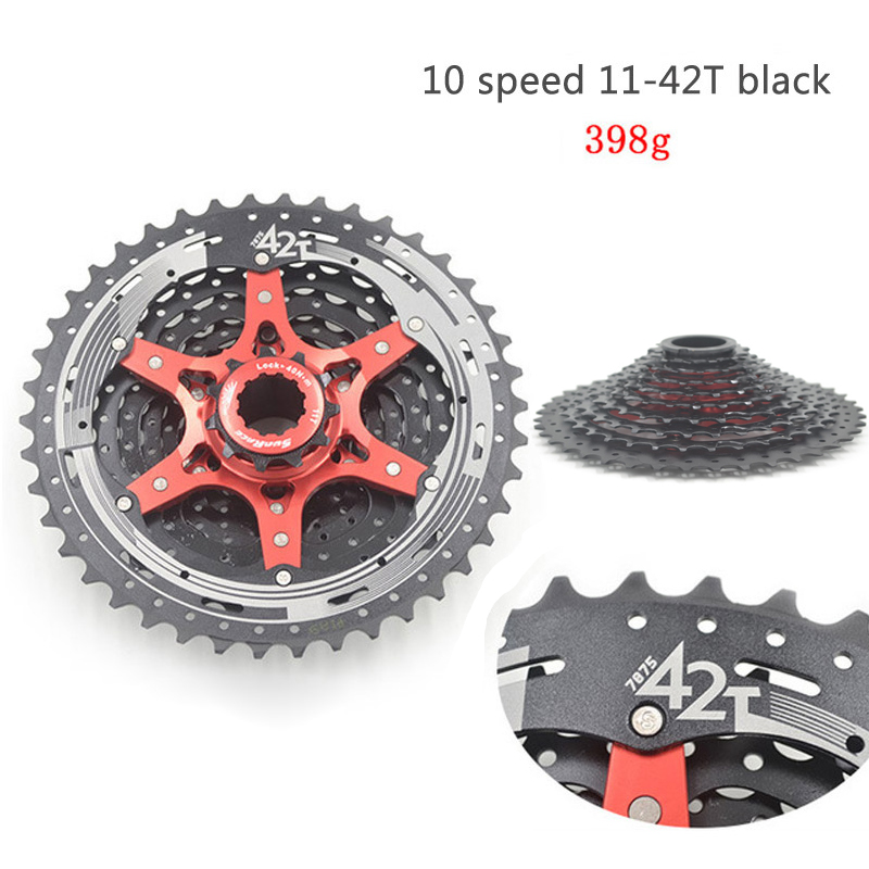 FETESNICE CSMX3 11-42T 10Speed MTB Bike Cassette flywheel Wide Ratio bicycle freewheel sunshine 11 speed 11 42t cassette bicycle freewheel mtb mountain road bike bicycle wide ratio freewheel steel climbing flywheel