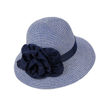 BING YUANHAOXUAN 2018 Sun-shading Hat Female Summer Cotton Flowers Sun Anti-uv Beach Folding Wide Straw