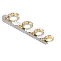 12W LED Mirror Front Lamp Bathroom European Modern Minimalist Stainless Steel Wall Lamp Crystal Sconce Lighting Fixture W223 4