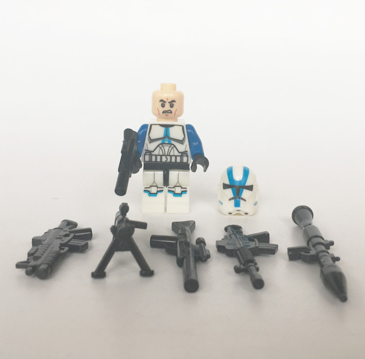 LEGO Compatible 20x Clone Wars 501st Star Wars Clone Troopers Mini Figures