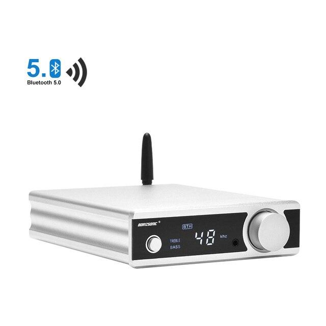 BRZHIFI HiFi סטריאו Bluetooth 5.0 TDA7498 כוח מגבר עם פעיל סאב אוזניות Amp USB/OPT/לשדל DAC מפענח
