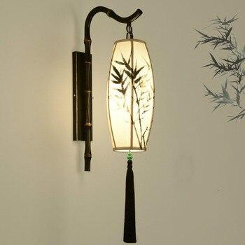 Neue Chinesische Wand Lampe Antike Hotel Gang Licht China Wind Bambus Club Gesundheit Shop Dekorative Wand Lampe ZP4271822