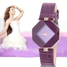 Fashion Crystal Women Watches Minimalist Casual Blue Red Black White Purple Simple for Girls Ladies Quartz Wrist