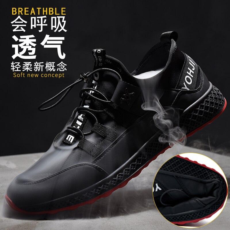 Preto Desodorante Respirável Maré Selvagem Verão De Coreano Sapatos white Black Outono Sneakers Homens Dos Malha Casuais 0wqPng7