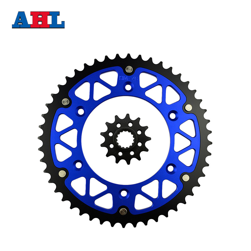 Motorcycle Parts Front & Rear Sprockets Kit for KTM SX125 SX250 1994-2014 SX144 2008 SX150 2014 SX200 2003-04 Gear Fit 520 Chain motorcycle parts front