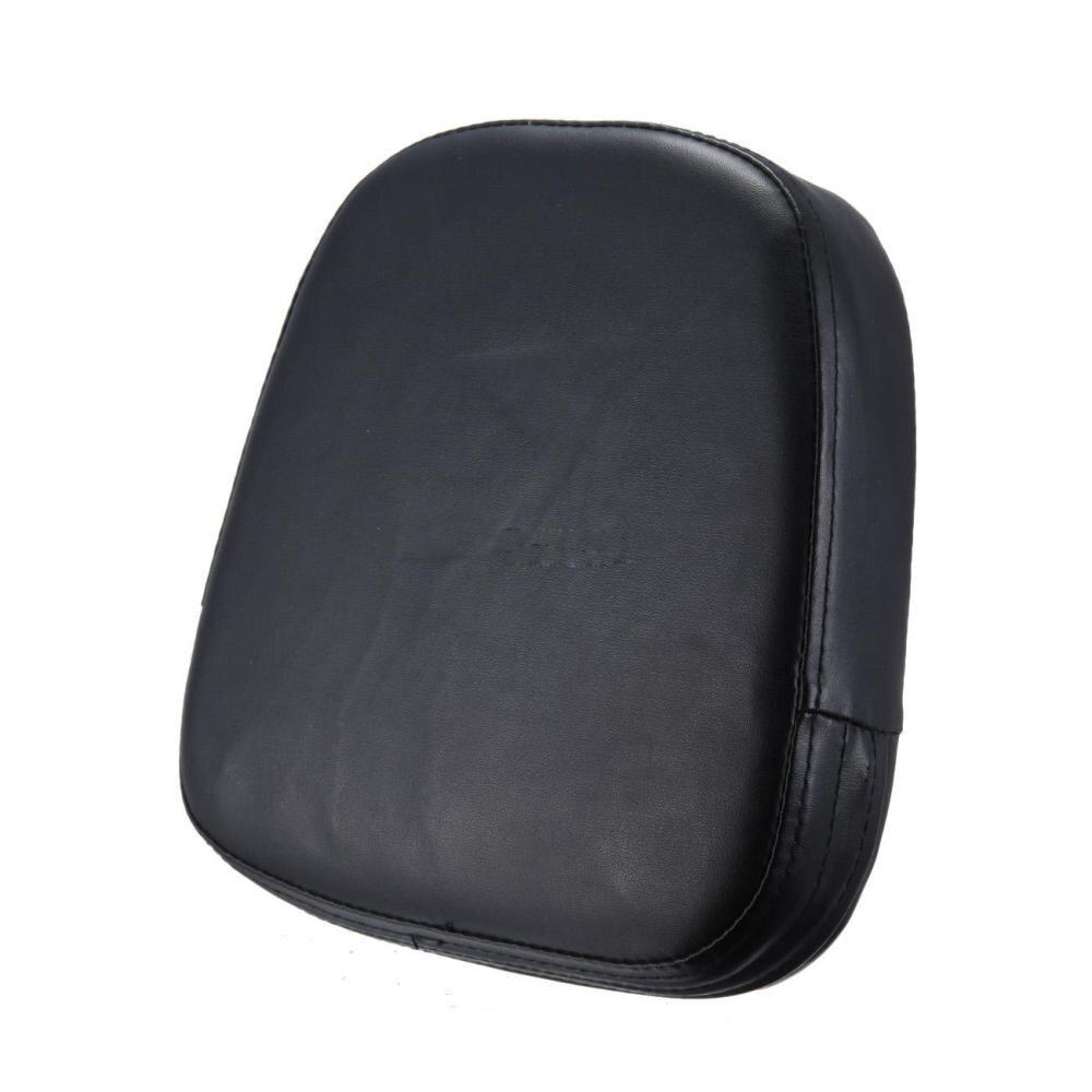 Motorcycle Universal Square Cushion Pad  Cruiser Sissy Bar Backrest Black Back Leather For Harley Davidson Honda Kawasaki Suzuki