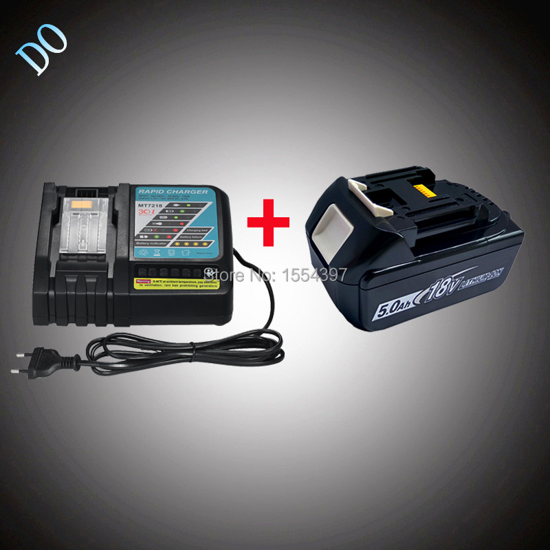 18V 5000mAh Rechargeable Lithium Ion BL1850 with Power Tool Battery Charger Replacement for Makita 18V BL1840 BL1830 BL1815 LXT 3pcs set 18v lithium li ion battery 3000mah rechargeable replacement power tool battery for makita li ion lxt 18v machines