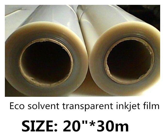 20in 30m super transparent film for Eco sovlent inkjet printer 51cm wide