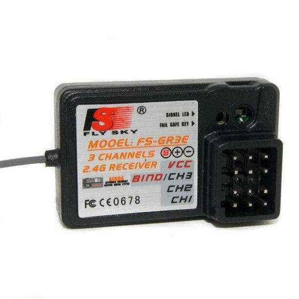 Free shipping 100 Genuine FlySky 3CH 2 4G FS GR3E Receiver GR3C GT3B For RC Car