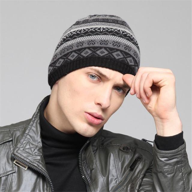 Kenmont Sombrero de Lana de Invierno de Los Hombres Del Deporte de Esquí Snow KM-1345-01 de Punto Beanie Sombrero Negro