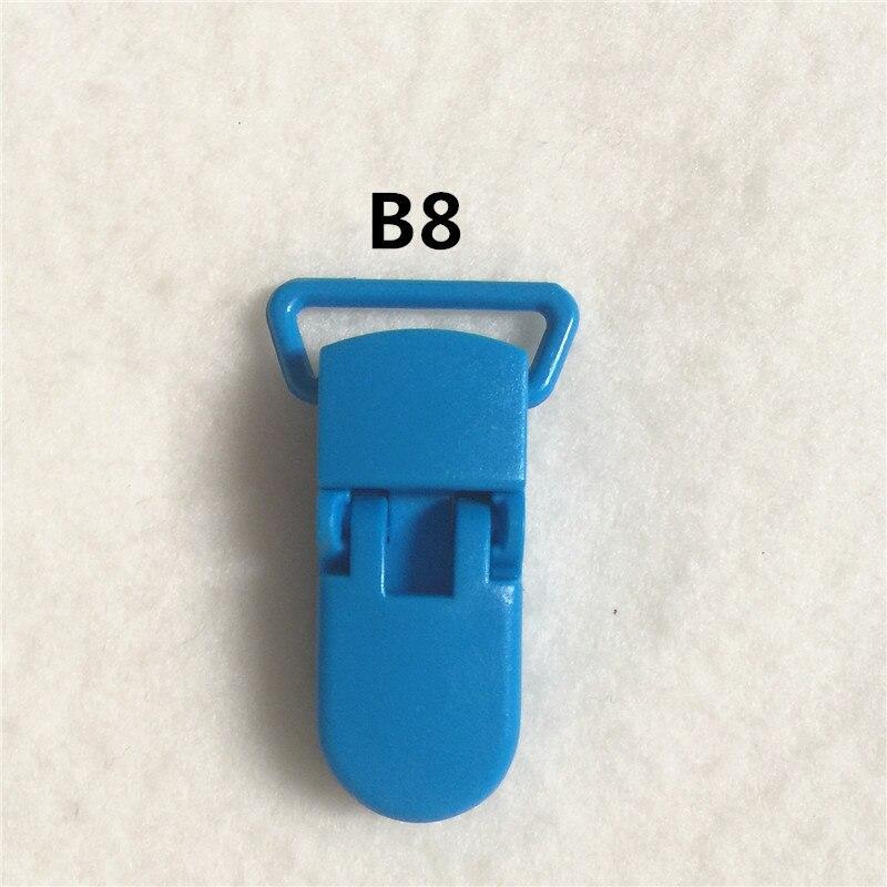 20 цветов) DHL 200 шт. 20 мм КАМ Пластик маленьких Соски NUK MAM пустышка Chain Зажимы чулок Зажимы - Цвет: B8
