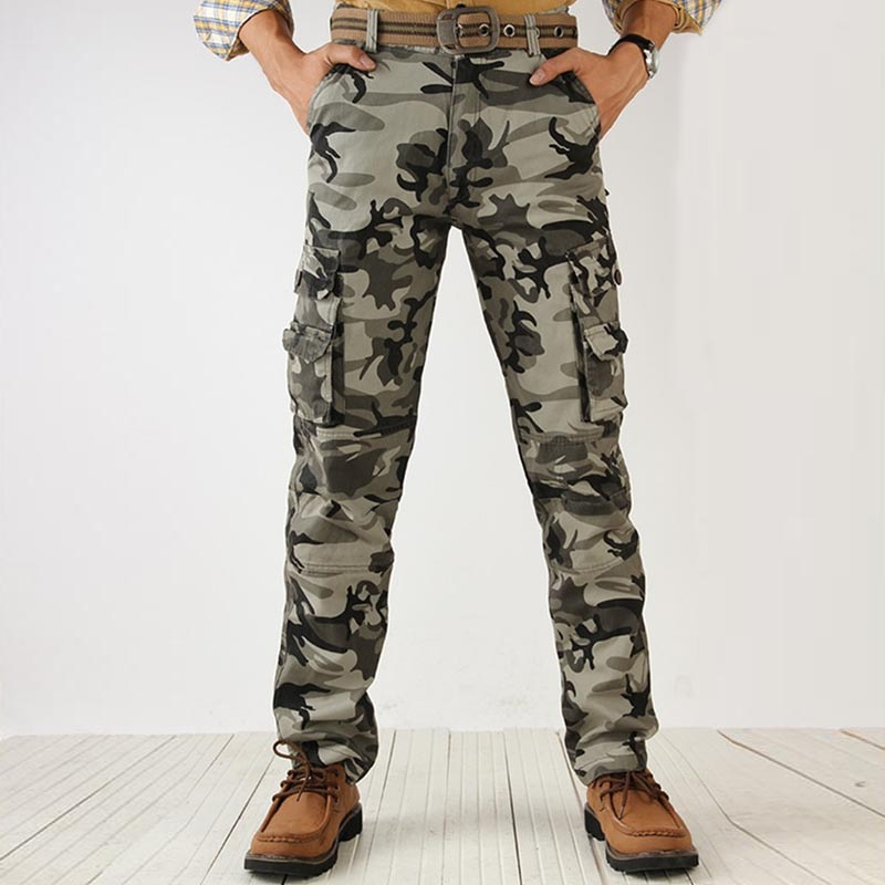 Tactical /'s pants Cargo Combat SWAT Army Men/'s Trousers Military work CottonIX9