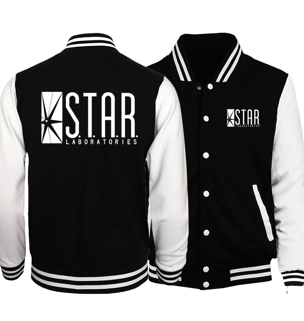 2018 Spring Hot Men Coat Wolf Teen Stilinski 24 Baseball Jackets Men Hoodies The Flash S.T. A. R. Labs Star Jacket Tracksuit