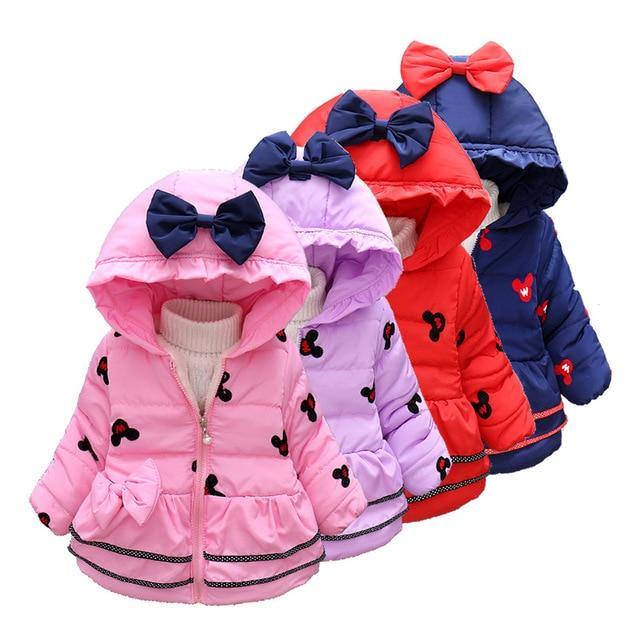 fada636f0 Winter Girls Down Clothes Jackets Toddler Parkas Zipper Children ...